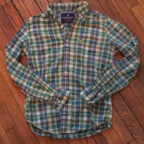 American Eagle Outfitters Other - AMERICAN EAGLE button down plaid shirt. Size S.
